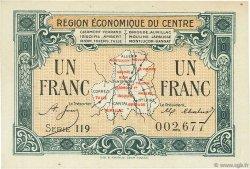 1 Franc FRANCE régionalisme et divers Région Économique Du Centre 1918 JP.040.07 SPL à NEUF
