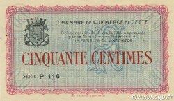 50 Centimes FRANCE régionalisme et divers CETTE ACTUELLEMENT SETE 1915 JP.041.03 SPL à NEUF
