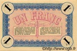 1 Franc FRANCE régionalisme et divers Cette, actuellement Sete 1915 JP.041.05 TTB à SUP