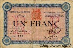 1 Franc FRANCE régionalisme et divers CETTE ACTUELLEMENT SETE 1915 JP.041.05 TB