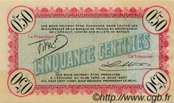 50 Centimes FRANCE régionalisme et divers CETTE ACTUELLEMENT SETE 1915 JP.041.10 TTB à SUP