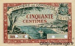 50 Centimes FRANCE régionalisme et divers Cette, actuellement Sete 1922 JP.041.20 SPL à NEUF