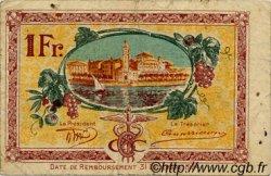 1 Franc FRANCE régionalisme et divers CETTE ACTUELLEMENT SETE 1922 JP.041.21 TTB à SUP