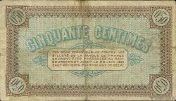 50 Centimes FRANCE régionalisme et divers Châlon-Sur-Saône, Autun et Louhans 1916 JP.042.01 TB