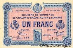 1 Franc FRANCE régionalisme et divers Châlon-Sur-Saône, Autun et Louhans 1916 JP.042.04 SPL à NEUF