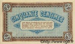 50 Centimes FRANCE régionalisme et divers CHÂLON-SUR-SAÔNE, AUTUN ET LOUHANS 1916 JP.042.08 TTB à SUP