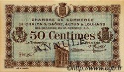 50 Centimes FRANCE régionalisme et divers Châlon-Sur-Saône, Autun et Louhans 1916 JP.042.09 SPL à NEUF