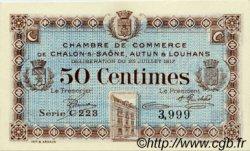 50 Centimes FRANCE régionalisme et divers Châlon-Sur-Saône, Autun et Louhans 1917 JP.042.12 SPL à NEUF