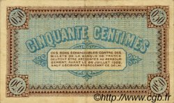 50 Centimes FRANCE régionalisme et divers CHÂLON-SUR-SAÔNE, AUTUN ET LOUHANS 1917 JP.042.12 TB