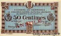 50 Centimes FRANCE régionalisme et divers Châlon-Sur-Saône, Autun et Louhans 1917 JP.042.13 SPL à NEUF
