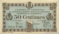 50 Centimes FRANCE régionalisme et divers CHÂLON-SUR-SAÔNE, AUTUN ET LOUHANS 1918 JP.042.16 TTB à SUP