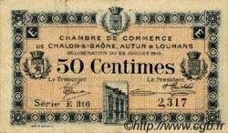 50 Centimes FRANCE régionalisme et divers Châlon-Sur-Saône, Autun et Louhans 1919 JP.042.20 TTB à SUP