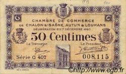 50 Centimes FRANCE régionalisme et divers CHÂLON-SUR-SAÔNE, AUTUN ET LOUHANS 1920 JP.042.28 TB