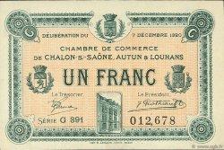 1 Franc FRANCE régionalisme et divers CHÂLON-SUR-SAÔNE, AUTUN ET LOUHANS 1920 JP.042.30 SPL à NEUF