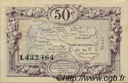 50 Centimes FRANCE régionalisme et divers CHALONS, REIMS, ÉPERNAY 1922 JP.043.01 TTB à SUP