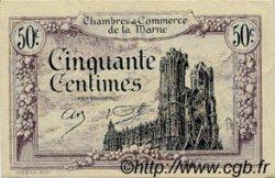 50 Centimes FRANCE régionalisme et divers CHALONS, REIMS, ÉPERNAY 1922 JP.043.01 TB