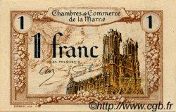 1 Franc FRANCE régionalisme et divers CHALONS, REIMS, ÉPERNAY 1922 JP.043.02 SPL à NEUF