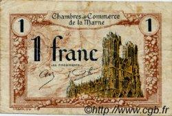 1 Franc FRANCE régionalisme et divers CHALONS, REIMS, ÉPERNAY 1922 JP.043.02 TB