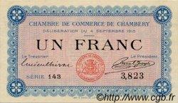 1 Franc FRANCE régionalisme et divers Chambéry 1915 JP.044.01 SPL à NEUF