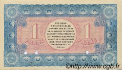 1 Franc FRANCE régionalisme et divers Chambéry 1915 JP.044.03 SPL à NEUF