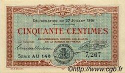 50 Centimes FRANCE régionalisme et divers CHAMBÉRY 1916 JP.044.08 SPL à NEUF