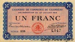 1 Franc FRANCE régionalisme et divers CHAMBÉRY 1916 JP.044.09 SPL à NEUF