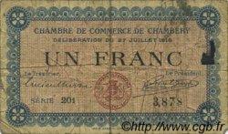 1 Franc FRANCE régionalisme et divers CHAMBÉRY 1916 JP.044.09 TB