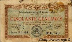 50 Centimes FRANCE régionalisme et divers Chambéry 1920 JP.044.12 TB