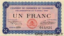 1 Franc FRANCE régionalisme et divers Chambéry 1920 JP.044.14 SPL à NEUF