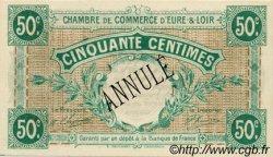 50 Centimes FRANCE régionalisme et divers CHARTRES 1915 JP.045.02 SPL à NEUF