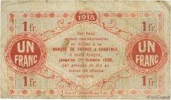 1 Franc FRANCE régionalisme et divers Chartres 1915 JP.045.03 TB