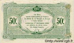 50 Centimes FRANCE régionalisme et divers CHARTRES 1917 JP.045.05 TTB à SUP