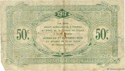 50 Centimes FRANCE régionalisme et divers Chartres 1917 JP.045.05 TB