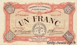 1 Franc FRANCE régionalisme et divers Chartres 1917 JP.045.07 SPL à NEUF