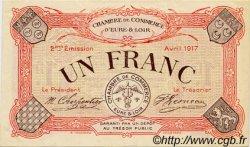 1 Franc FRANCE régionalisme et divers CHARTRES 1917 JP.045.07 TTB à SUP