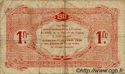 1 Franc FRANCE régionalisme et divers Chartres 1917 JP.045.07 TB