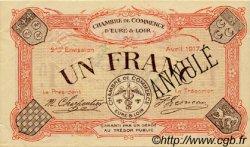 1 Franc FRANCE régionalisme et divers CHARTRES 1917 JP.045.08 TTB à SUP