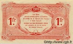 1 Franc FRANCE régionalisme et divers CHARTRES 1920 JP.045.10 SPL à NEUF