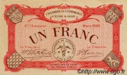 1 Franc FRANCE régionalisme et divers CHARTRES 1920 JP.045.10 TTB à SUP