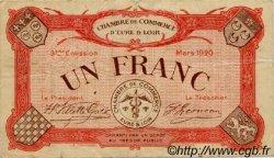1 Franc FRANCE régionalisme et divers CHARTRES 1920 JP.045.10 TB