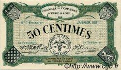 50 Centimes FRANCE régionalisme et divers Chartres 1921 JP.045.11 SPL à NEUF