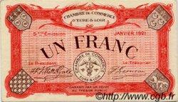 1 Franc FRANCE régionalisme et divers CHARTRES 1921 JP.045.13 TTB à SUP