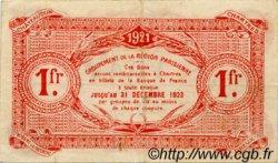 1 Franc FRANCE régionalisme et divers Chartres 1921 JP.045.13 TB