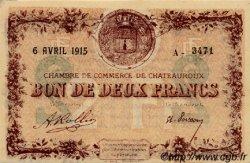 2 Francs FRANCE régionalisme et divers CHATEAUROUX 1915 JP.046.04 SPL à NEUF