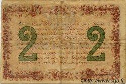 2 Francs FRANCE régionalisme et divers Chateauroux 1915 JP.046.04 TB