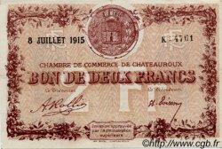2 Francs FRANCE régionalisme et divers CHATEAUROUX 1915 JP.046.09 TTB à SUP