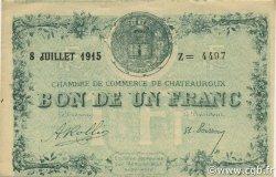 1 Franc FRANCE régionalisme et divers CHATEAUROUX 1915 JP.046.11 TTB à SUP