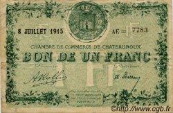 1 Franc FRANCE régionalisme et divers Chateauroux 1915 JP.046.12 TB