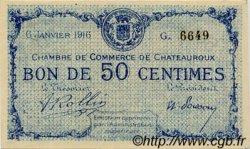 50 Centimes FRANCE régionalisme et divers CHATEAUROUX 1916 JP.046.14 TTB à SUP