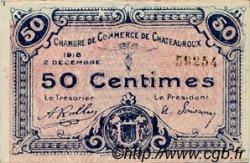 50 Centimes FRANCE régionalisme et divers Chateauroux 1918 JP.046.18 TTB à SUP